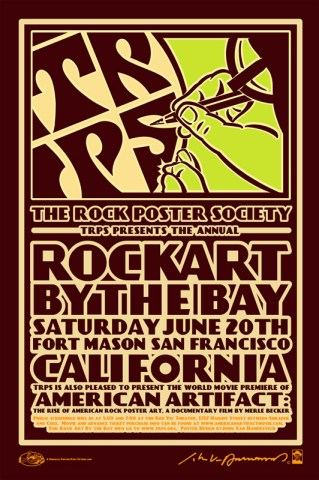 Rock Art By The Bay poster by John Van Hamersveld