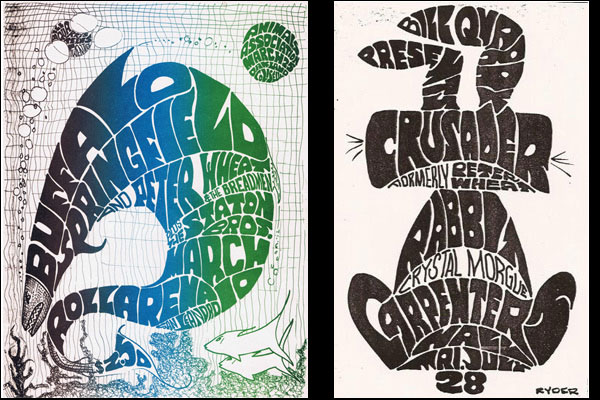 Gig posters by Don Ryder