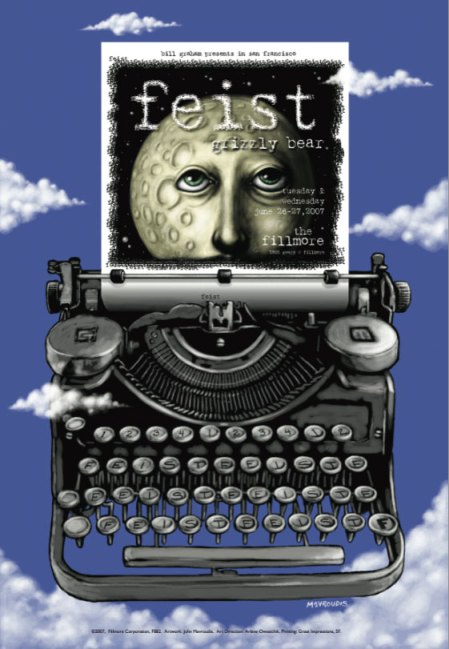 Feist at the Fillmore poster by John Mavroudis