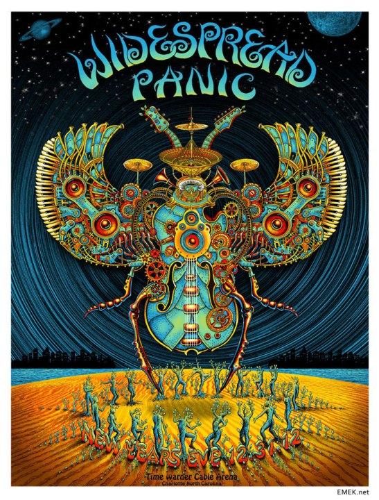 Widespread Panic rock poster by EMEK