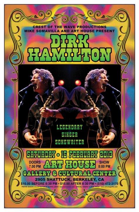 Dirk Hamilton rock poster by Dennis Loren