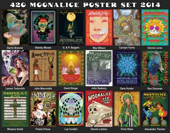 420 Moonalice poster set 2014