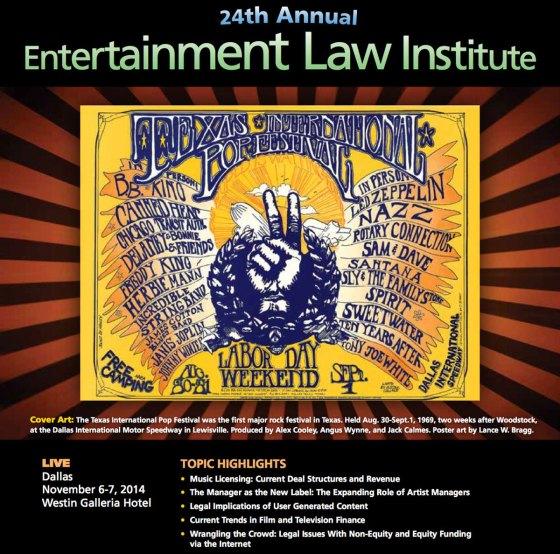 24th Annual Entertainment Law Institute in Dallas