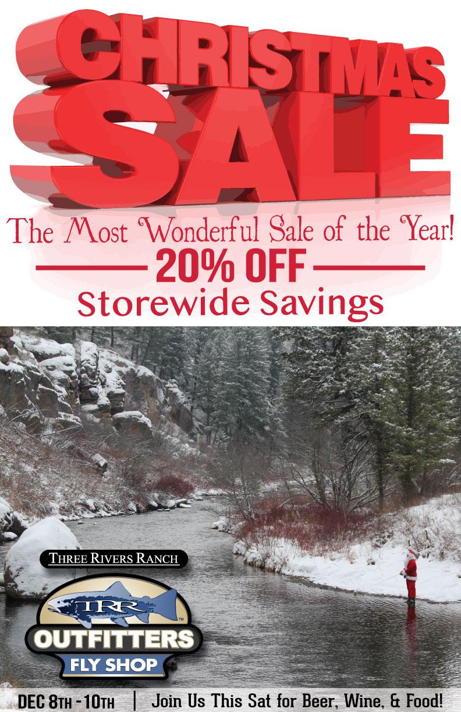 Boise Fly Shop Christmas Sale