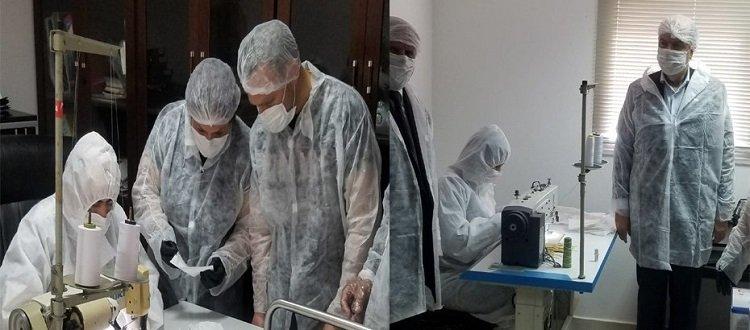Местная компания будет производить 60 тысяч хирургических масок