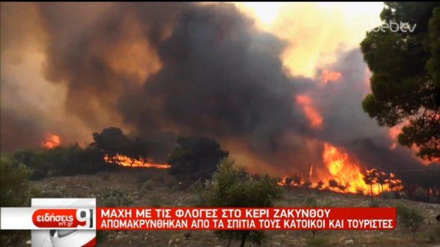 Στάχτη 10.000 στρέμματα δάσος και ελαιώνες από την πυρκαγιά στη Ζάκυνθο (video)