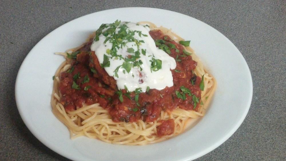 Spaghetti and Meatballs (Baseballs); Recipe