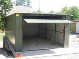 Фото: гараж из профильных труб своими руками