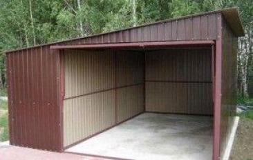 Фото: каркасный гараж из профтрубы своими руками по чертежу