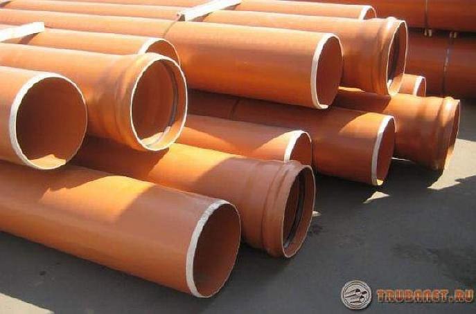 фото: пластиковые трубопрокаты для канализации