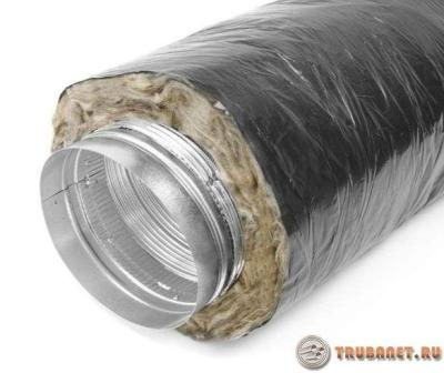 фото: обмотка минеральной ватой трубу