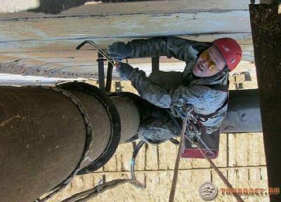 Фото: монтаж фланцевого соединения труб