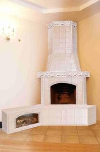 фото - гипсокартонный короб, декорированный керамической плиткой.
