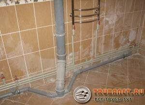 Фото – внутренняя канализация в частном доме