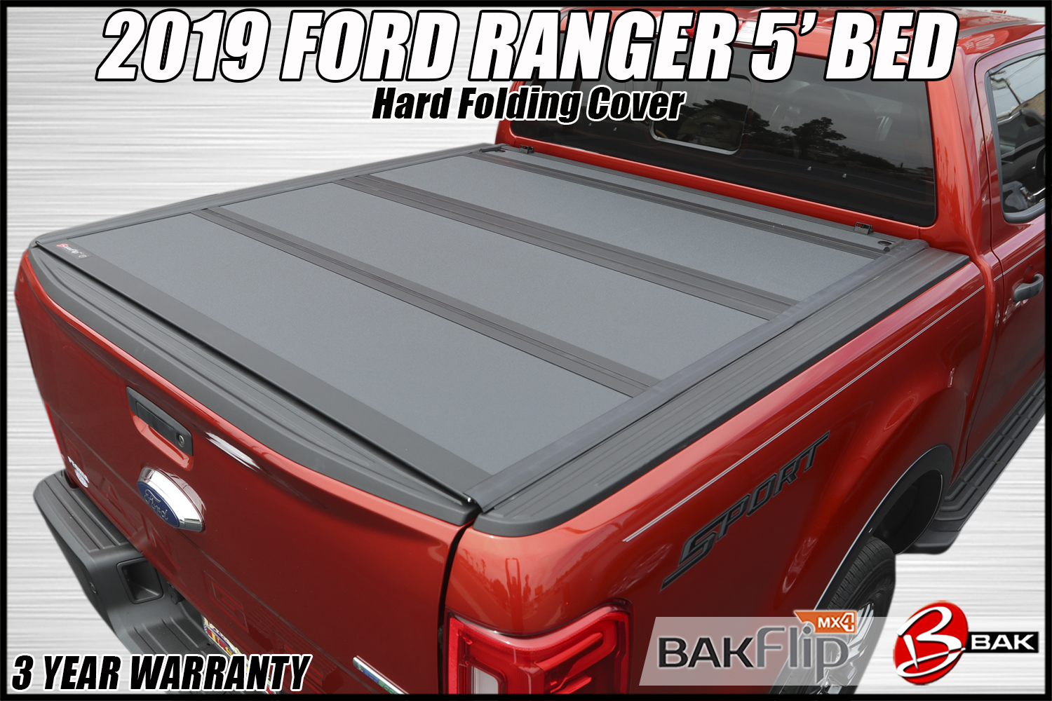2019 Ford Ranger Bakflip Mx4 Hard Folding Truck Bed Cover