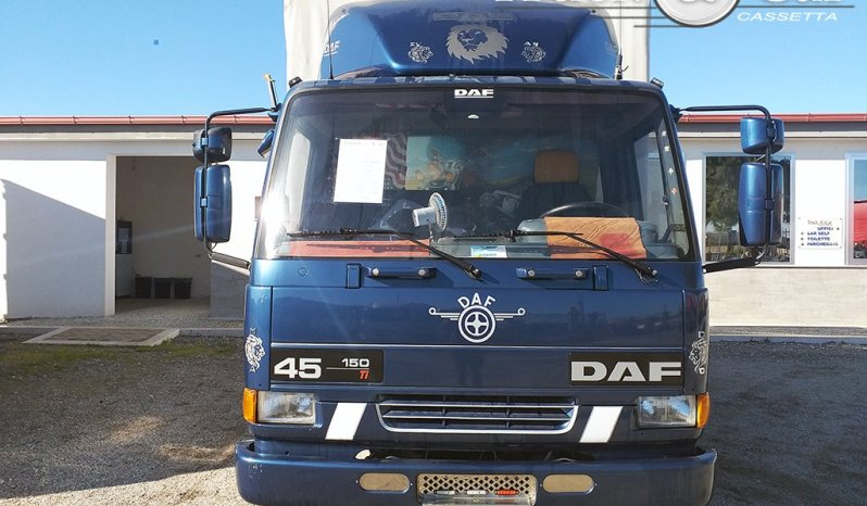 RIF.515 DAF TRUCKS 45 150 – CASSONE CENTINATO CON TELONE AD ALTEZZA VARIABILE – 2000 completo