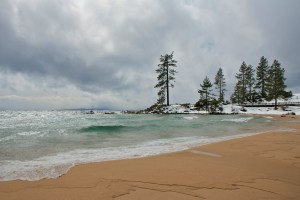 Lake Tahoe during a winter storm
