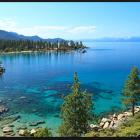Lake Tahoe is over 1,600 feet deep and contains a vast amount of fresh water, but has a very small watershed.
