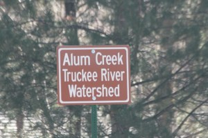 Alum Creek Truckee River Watershed Sign