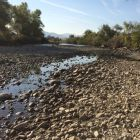 The Truckee River in September 2014 below the Glendale TMWA Treatment Plant is mostly dry.