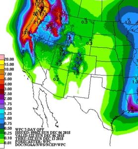 Seven day NOAA Forecast from 12/6/2015