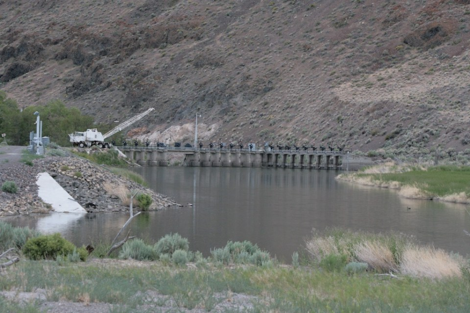 Derby Dam on the Truckee River diverts Truckee River water to the Carson River for the Newlands Irrigation Project starting in 1905.