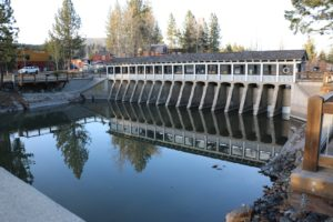 Lake Tahoe Dam at the outlet to the Truckee River February 2015