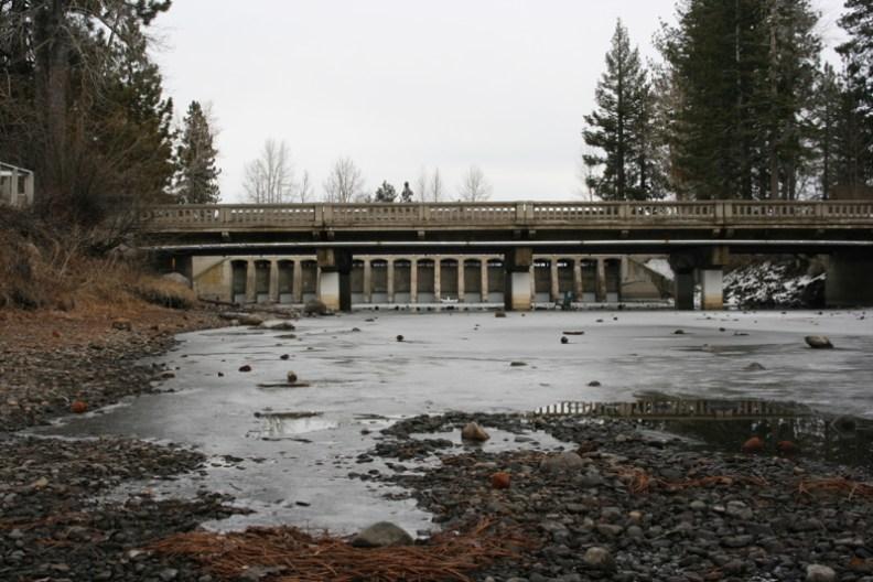 The Lake Tahoe Dam, Jan 9 2015.