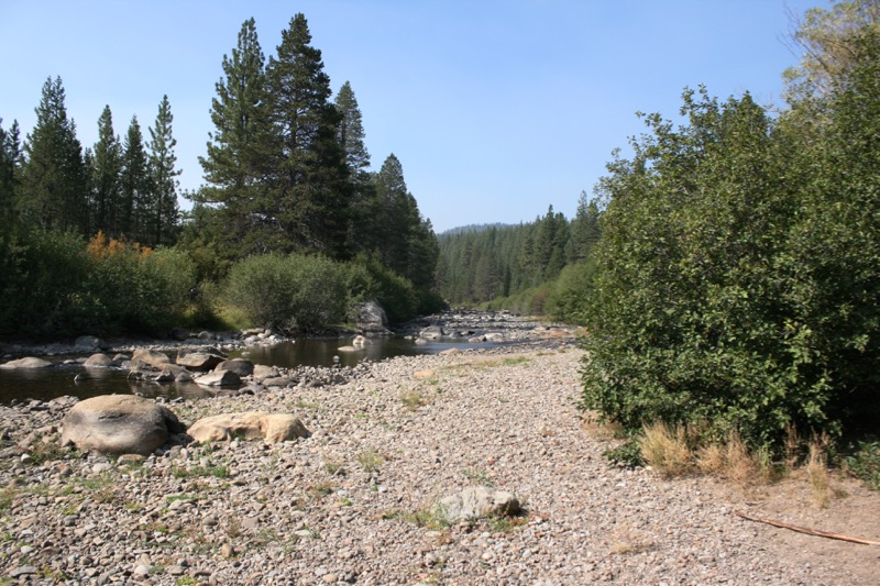 Truckee River near the inflow from Donner Creek, Truckee, CA. Aug 23, 2015.