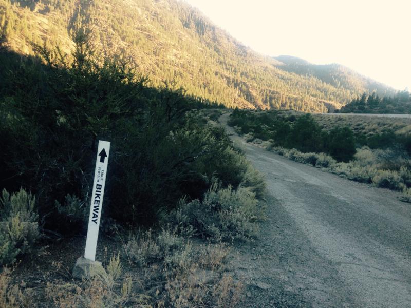 Tahoe Pyramid Bikeway, near Fleish Dam. Oct 2, 2015.