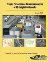 Freight Performance Measures Analysis of 30 Freight Bottlenecks