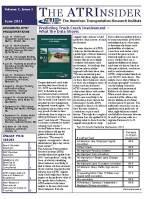 ATRInsider - June 2011 Vol. 7 Issue 1
