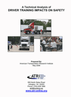 Driver Training Impacts on Safety