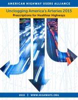 Unclogging America's Arteries 2015 - Prescriptions for Healthier Highways