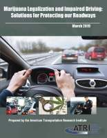 Marijuana Legalization and Impaired Driving: Solutions for Protecting our Roadways