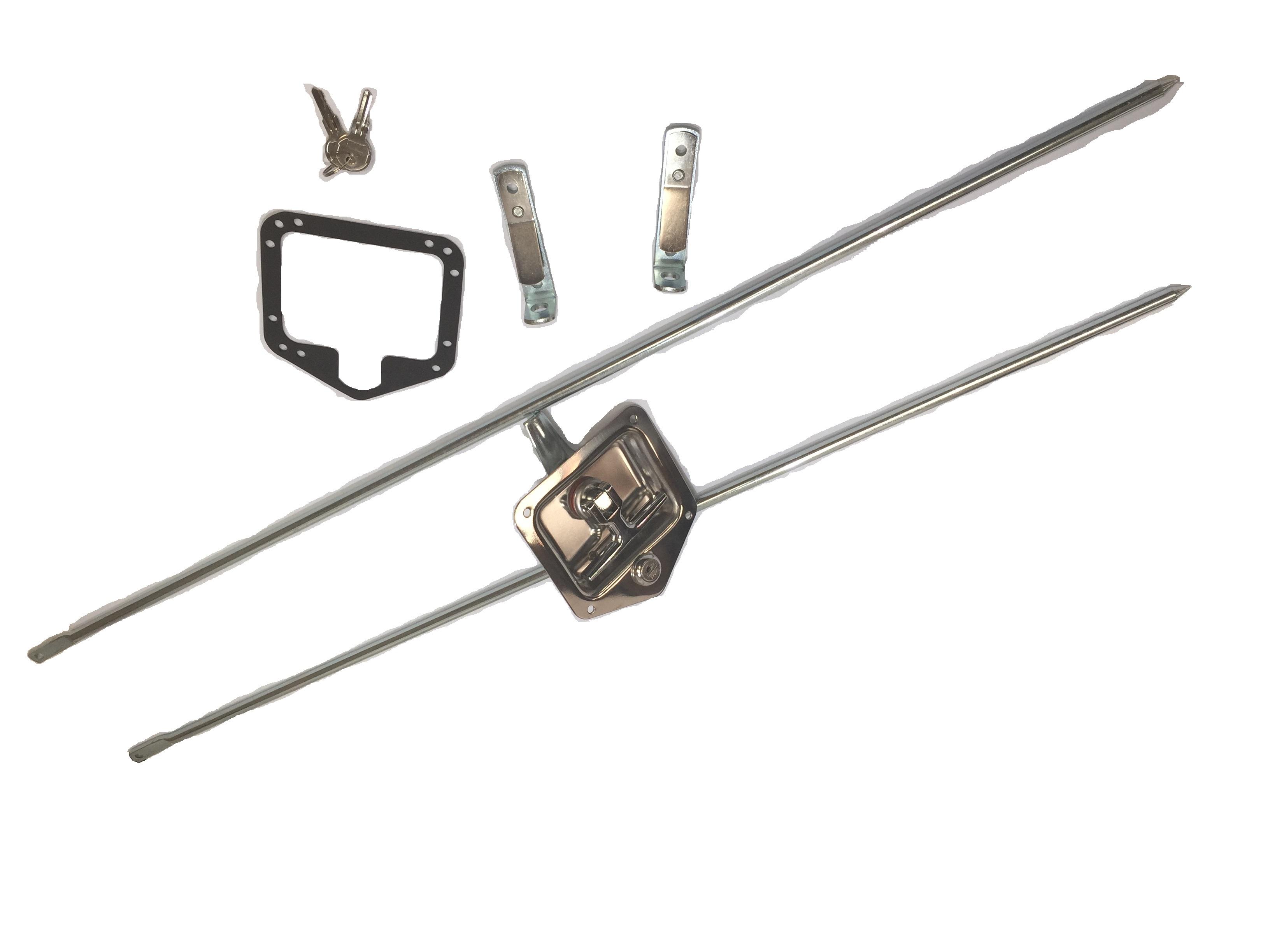 Heavy Duty Stainless Steel Folding T Handle Latch Triple Point L