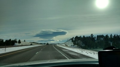 Interesting cloud over Wyoming ... the Mothership has arrived!