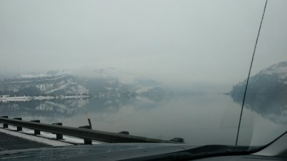 Columbia River Gorge - a rare day with no wind!
