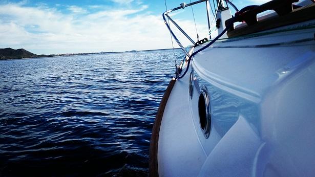 Sailing along on a wonderful day.