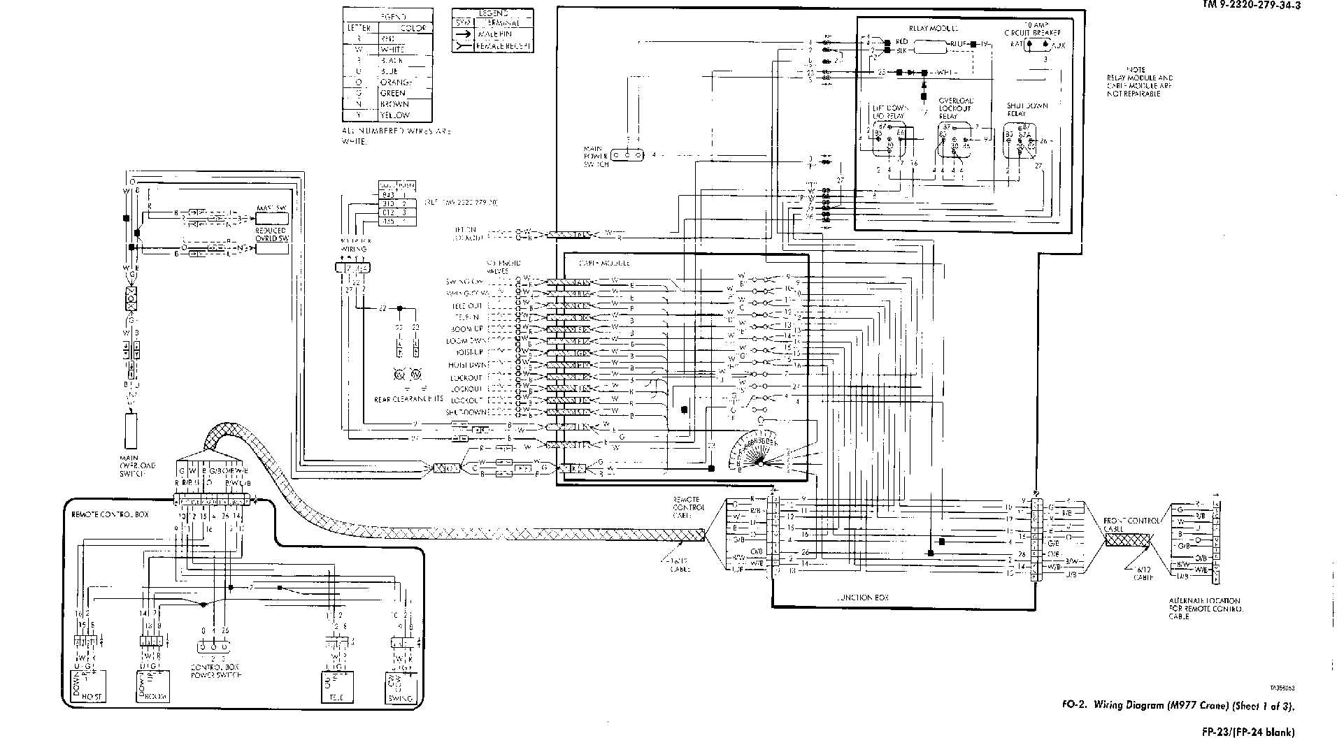Fo 2 Wiring Diagram M977 Crane Sheet 1 Of 3