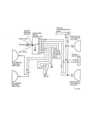 Figure 281 Wiring Diagram for Directional Signal Circuit