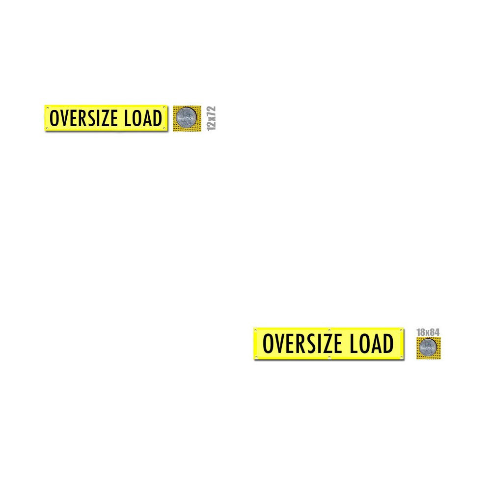Oversize Load Banner with Brass Grommets (valuegear)