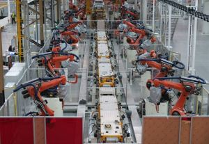 industrialised robots at VW