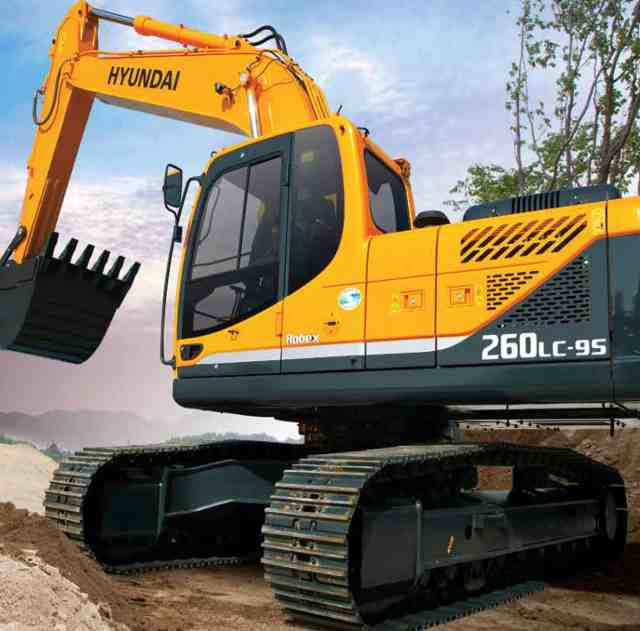 The Hyandai 260lc-95 crawler excavators