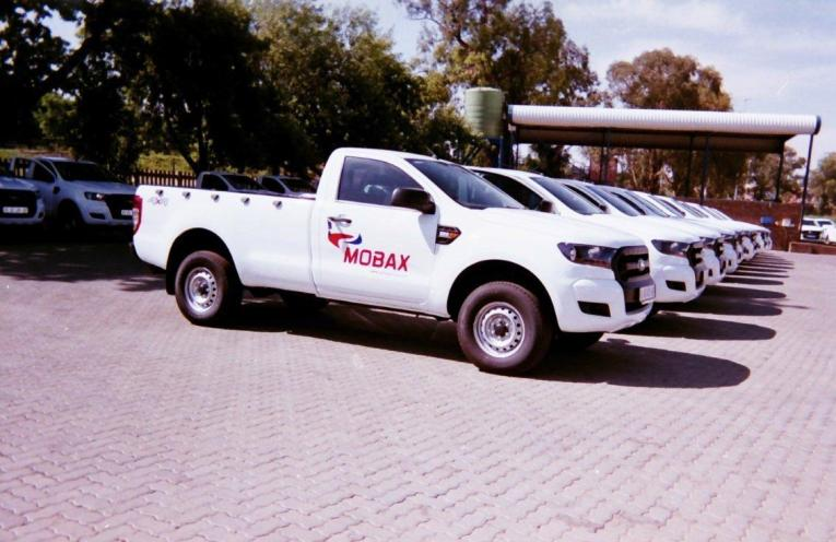 row of Mobax bakkies