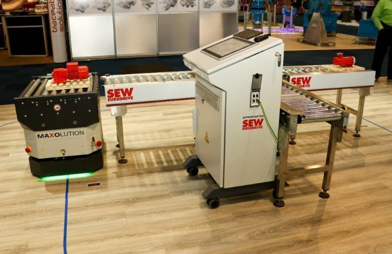 The ECDriveS drive system from SEW is ideal for light-duty materials-handling technology.