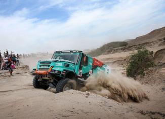Petronas Team De Rooy Iveco Truck at Dakar rally 2019