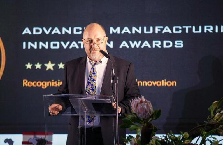 Andy Radford, Composites Cluster MD, at the 2018 National Advanced Manufacturing Innovation Awards.