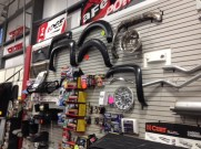 Fender Flares parts and Tow Mirrors on display in our Showroom