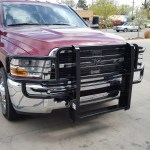Our new grill guard purchased & installed @ Truck Stuff, Wichita.2012 Ram 3500 with a Go Industries Grill Guard